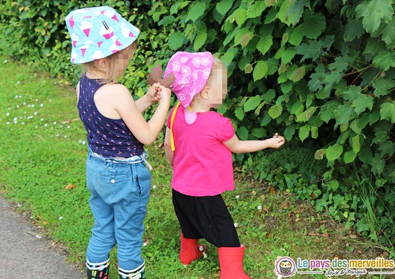 chasse couleurs nature enfant