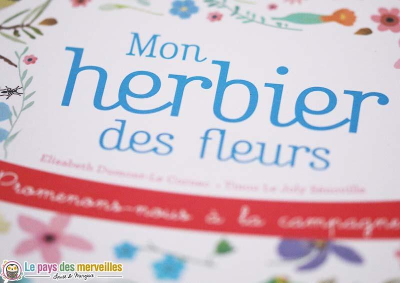 livre herbier fleurs