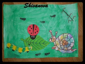 peinture enfant theme nature