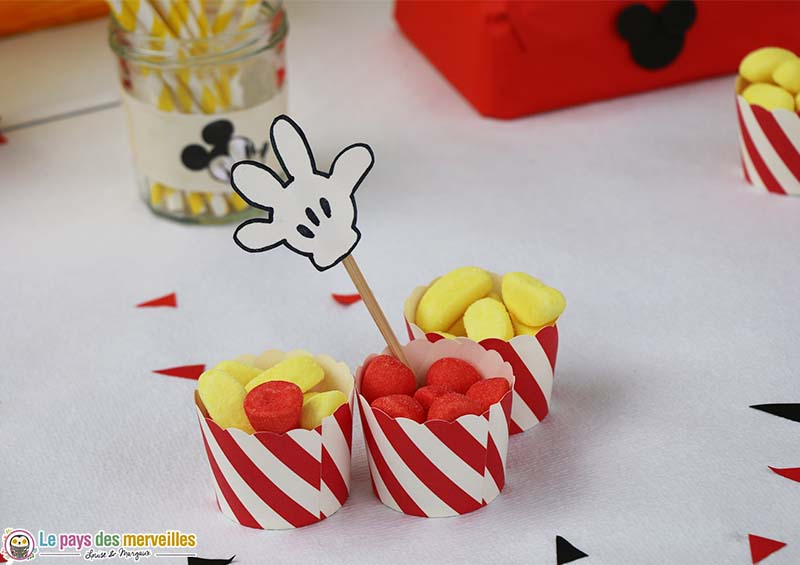 bonbon deco sweet table mickey
