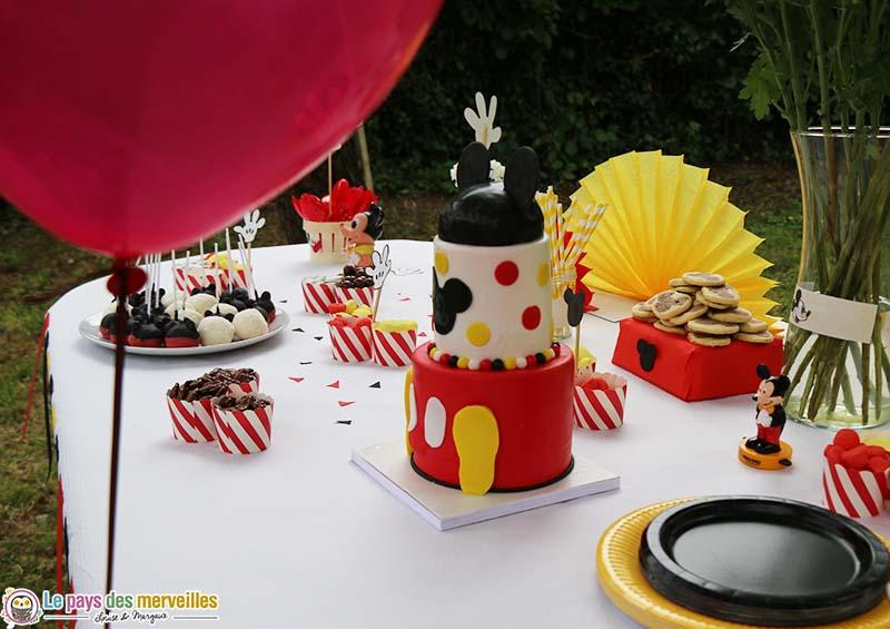 gateau anniversaire Mickey