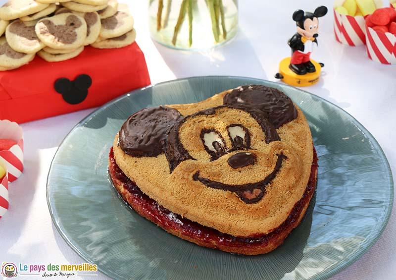 gateau sans gluten Mickey