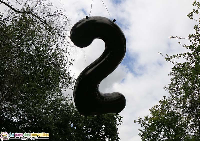 grand ballon chiffre 2