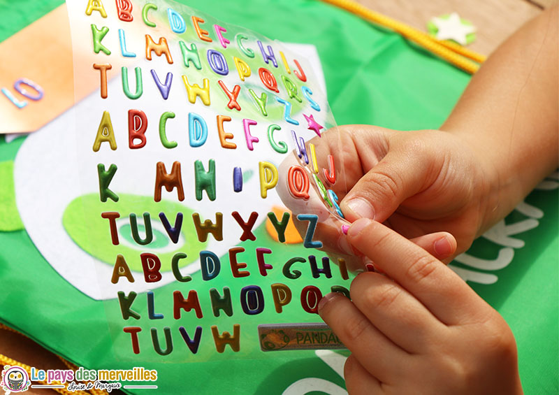 autocollant alphabet