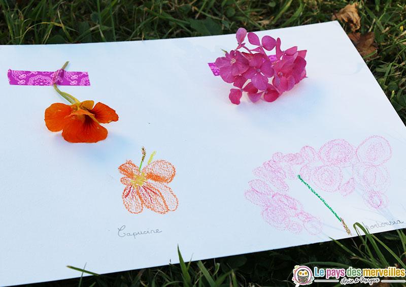 dessin enfant fleur