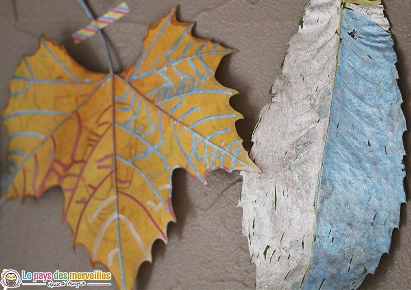 décorer des feuilles d'automne