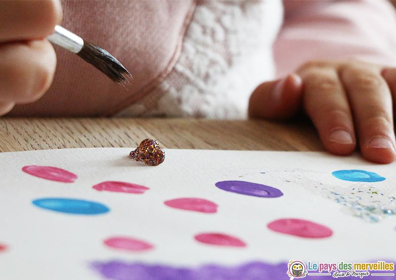 Peinture À L'Éponge Avec Des Tampons Homemade