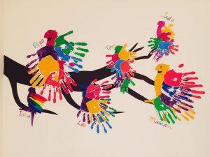 perroquet-arc-en-ciel-empreinte-main