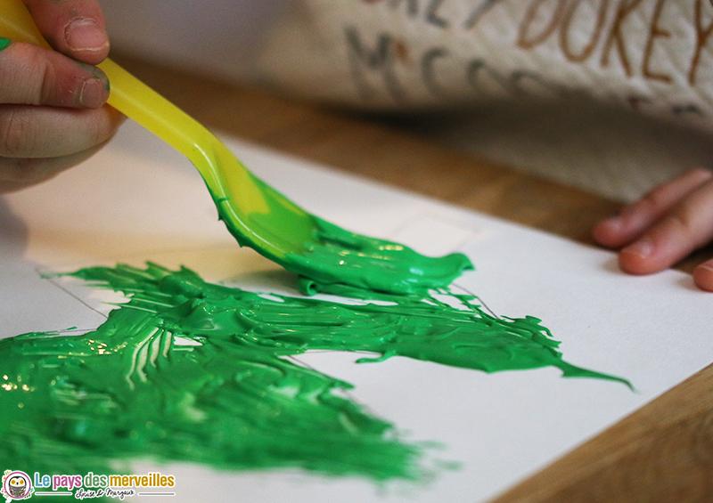 laisser des traces peinture fourchette