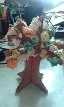 arbre automne papier chiffonne
