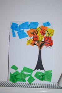 arbre collage papier