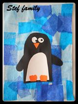 collage hiver pingouin