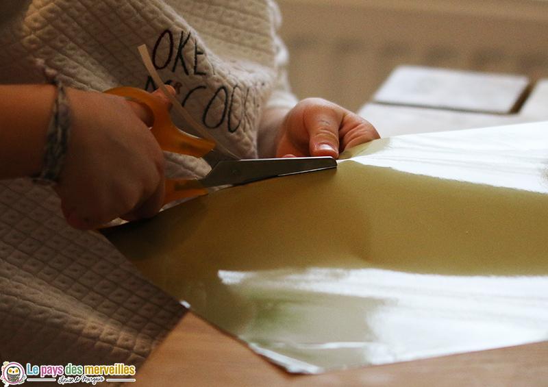 decoupage papier dore