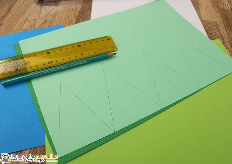 dessin sapin triangle