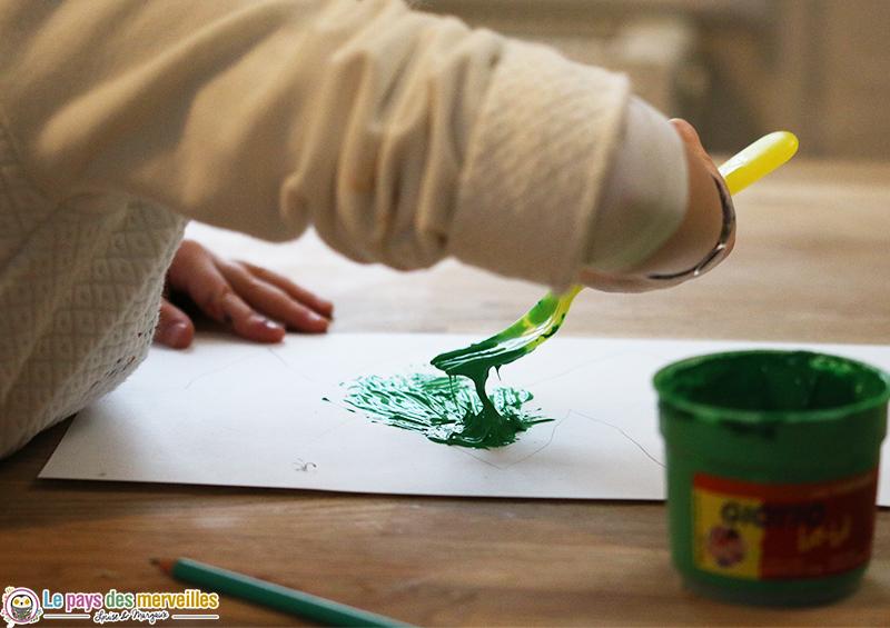 detournement objet peinture fourchette