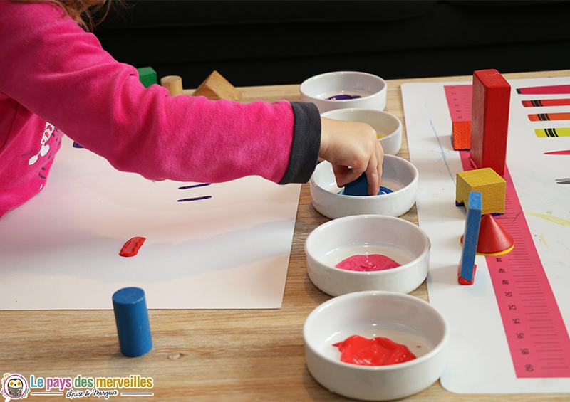 peindre avec des cubes