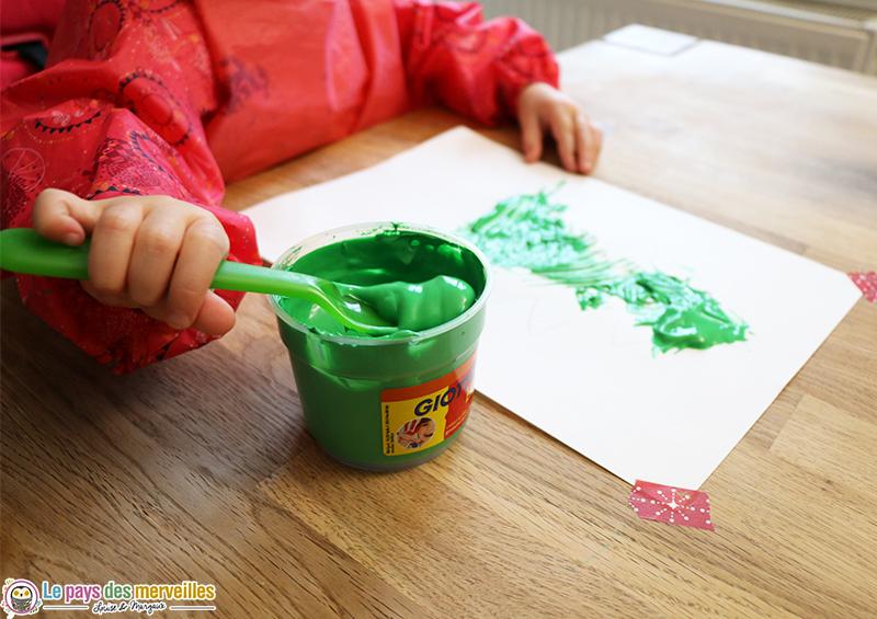 peinture a la fourchette