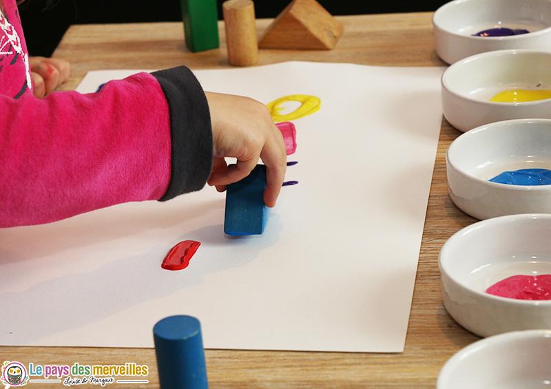 peinture enfant objet detourne