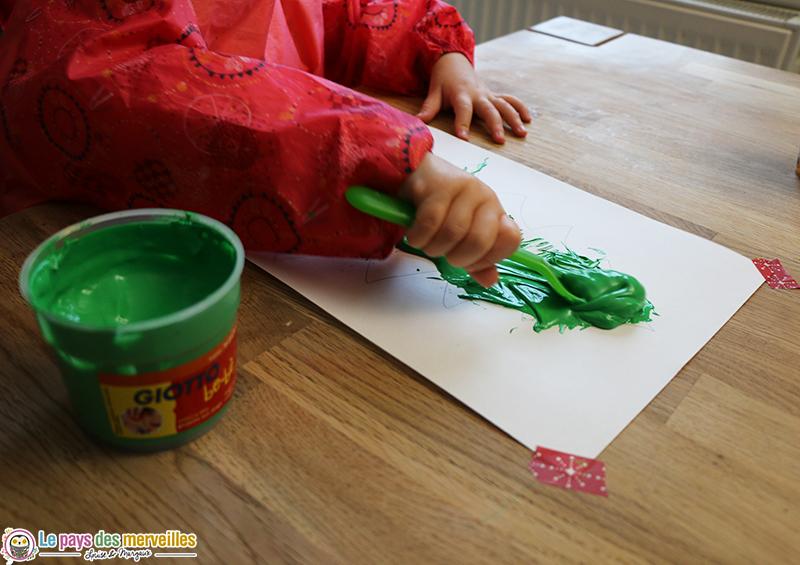 sapin peinture fourchette