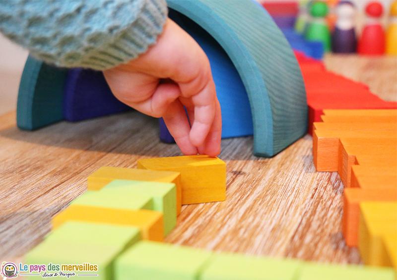 cube en bois enfant