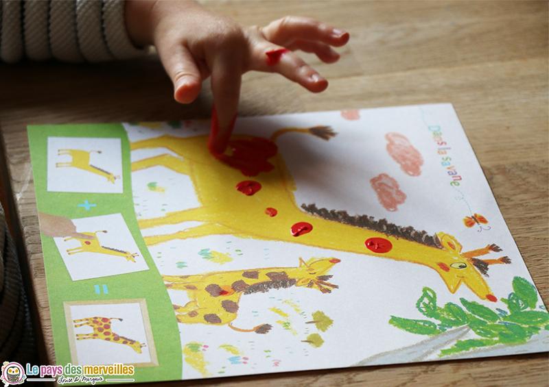 girafe empreinte doigts