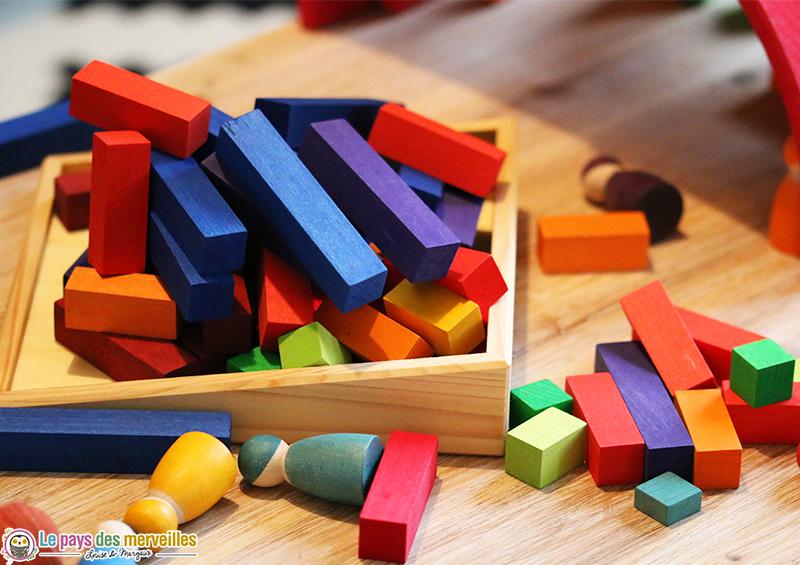 jouet en bois tri couleurs tailles