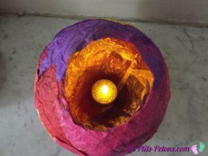 photophore papier de soie