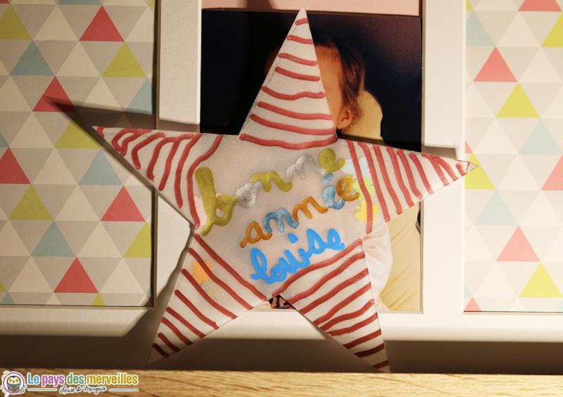 cartes de vœux étoilées DIY