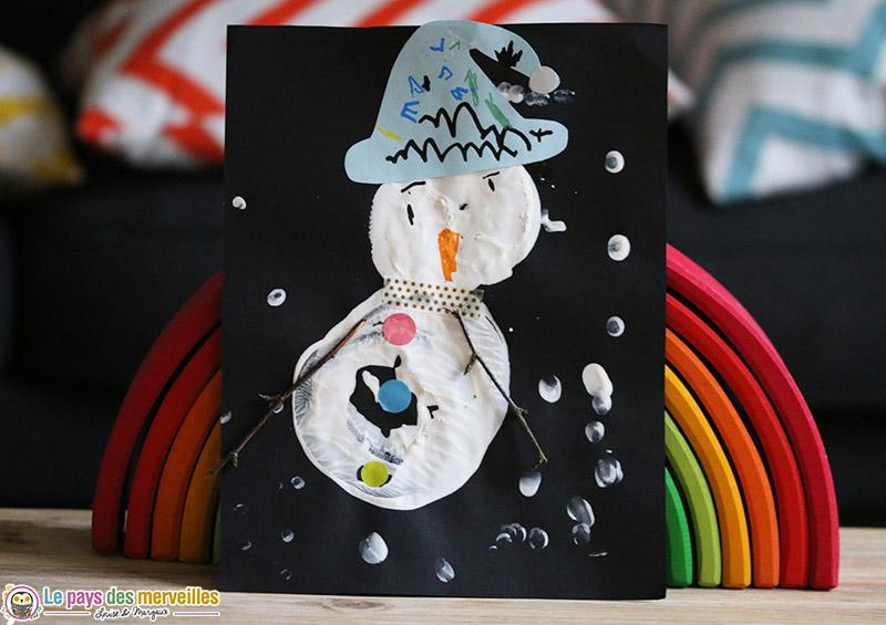 Peindre un bonhomme de neige avec un verre