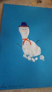 bonhomme de neige empreinte pied