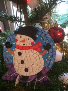 bonhomme de neige mosaique mousse