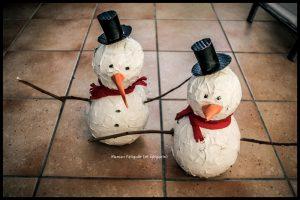 bonhomme de neige papier mache