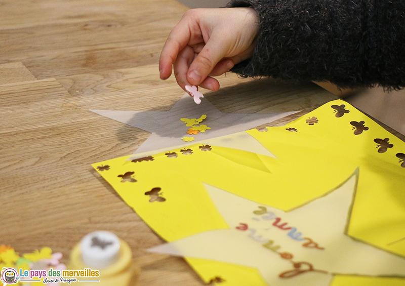 carte de voeux papier calque