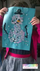 collage bonhomme de neige