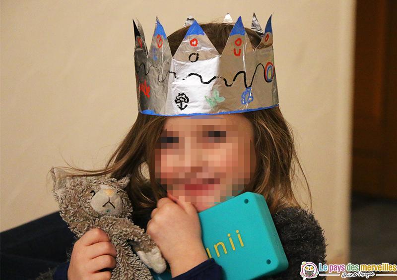 couronne des rois en papier aluminium