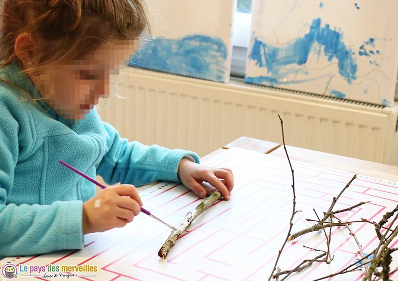 peinture branche l'art est un jeu d'enfant