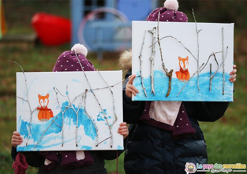 peinture enfant theme hiver