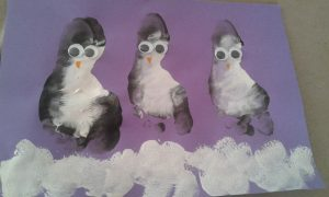 pingouin empreinte pied