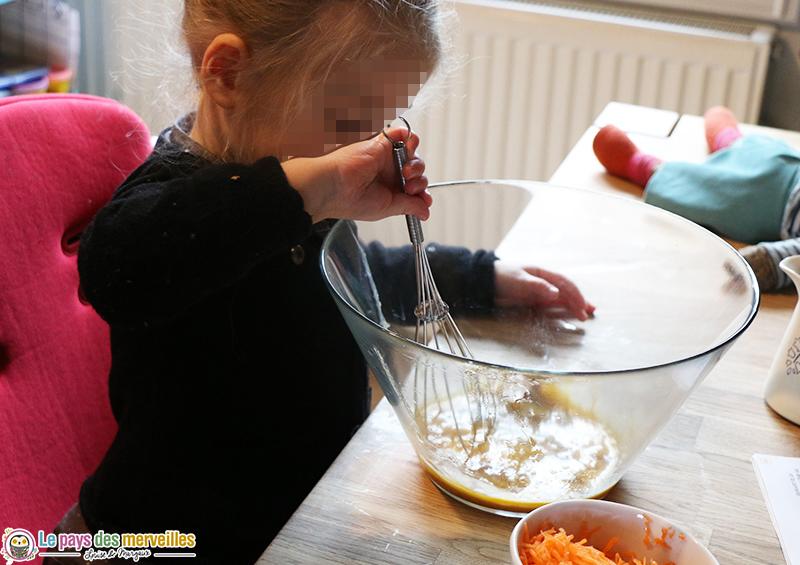 recette gateau enfant carotte