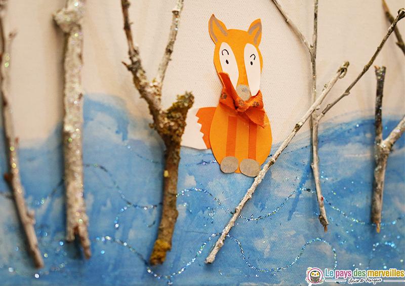 tableau d'hiver peinture enfant