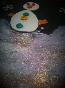 Portrait d 39 hiver activit manuelle sur le th me du froid for Peinture boiro jeu deffet paillettes