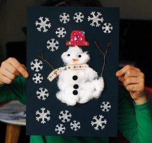 bonhomme de neige en coton