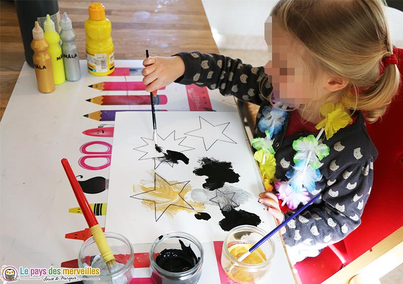 peinture facile pour un enfant de 2 ans