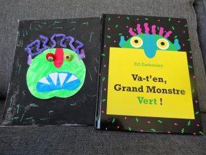 """Bricolage sur le livre """"Va-t'en, grand monstre vert !"""""""