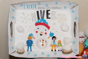 tableau hiver boite carton