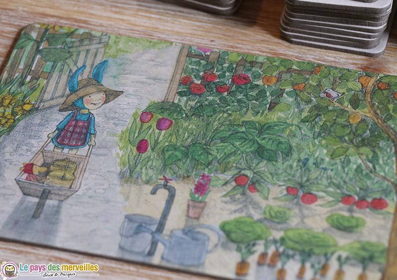 Illustration poétique du jardin de Balthazar