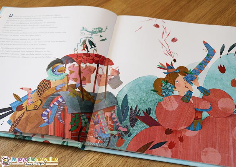illustrations d'Orianne Lallemand dans un conte moderne