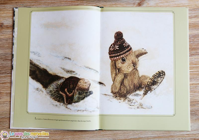 Illustration d'un lapin et d'un hérisson par Dedieu