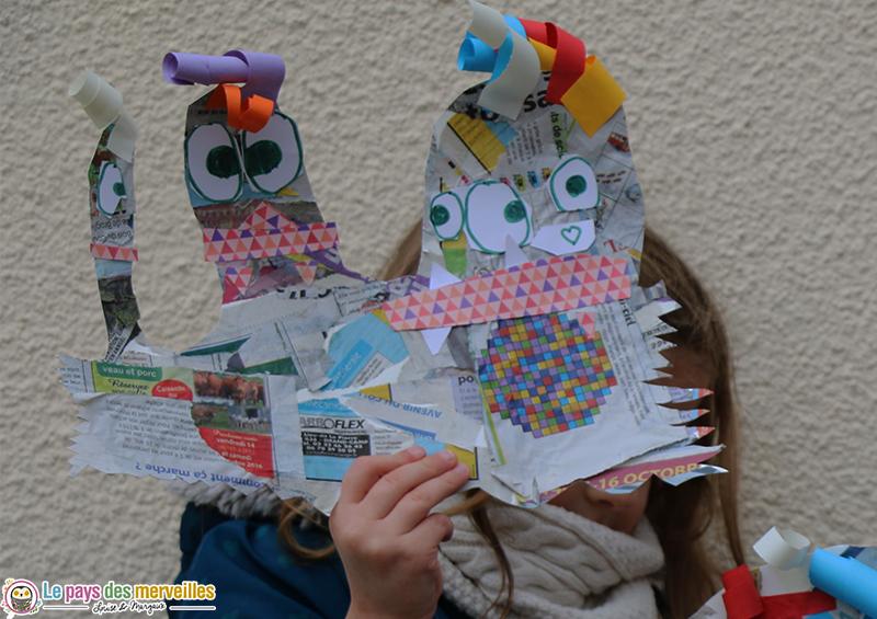 Bricolage maternelle d'un monstre rigolo avec 3 têtes