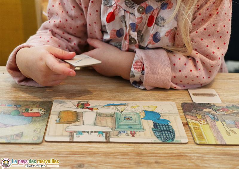 carte de jeu en carton du loto Montessori